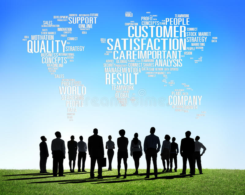 Customer Satisfaction Reliability Quality Service Concept stock images