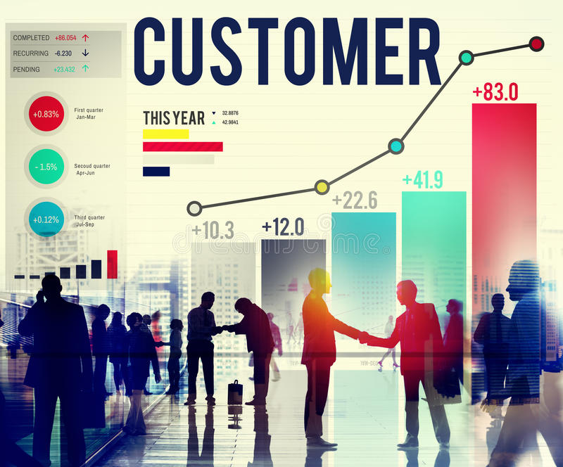Customer Satisfaction Service Efficiency Loyalty Concept stock images