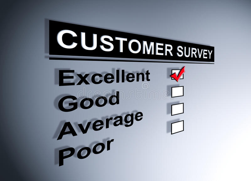 Download Customer Satisfaction Survey Stock Illustration - Image: 24831526
