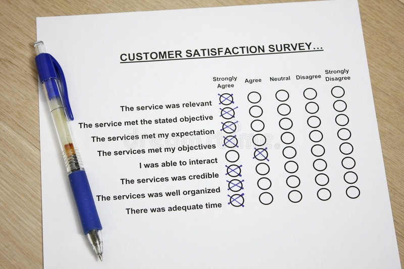 Customer Satisfaction Survey Stock Image  Image Of Tick Business