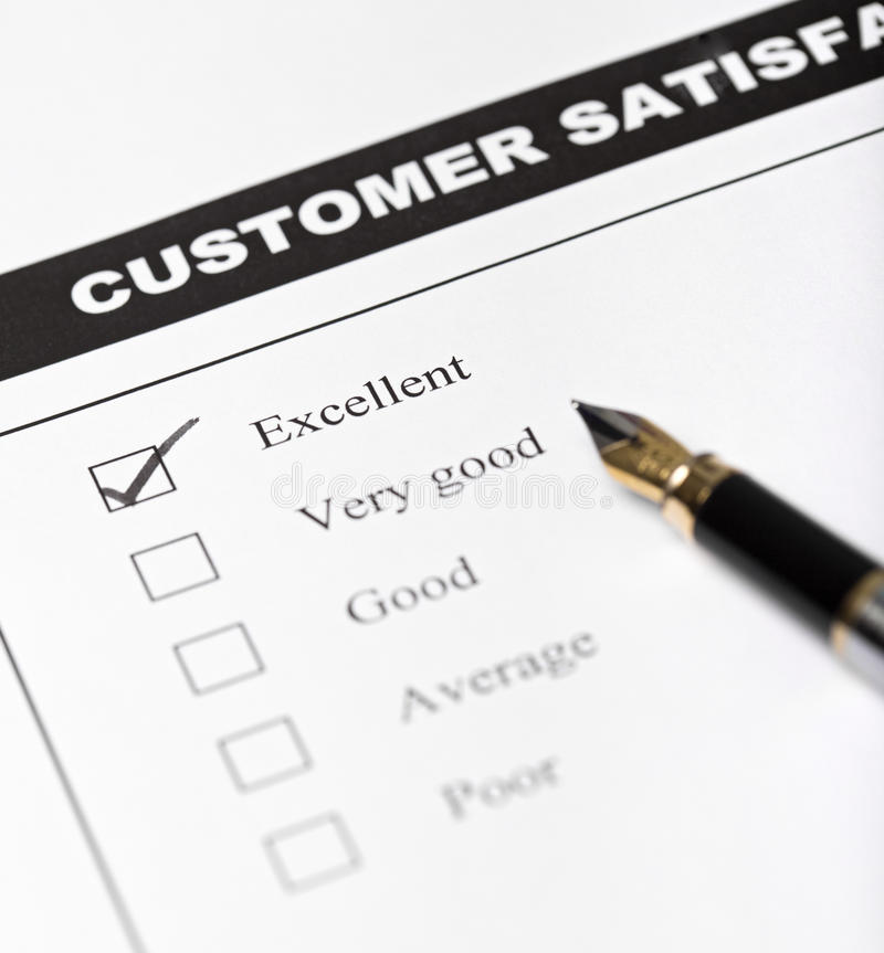Customer Satisfaction Survey Form - Closeup Royalty Free Stock Photo