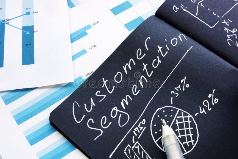 Customer Segmentation report for marketing strategy stock photos