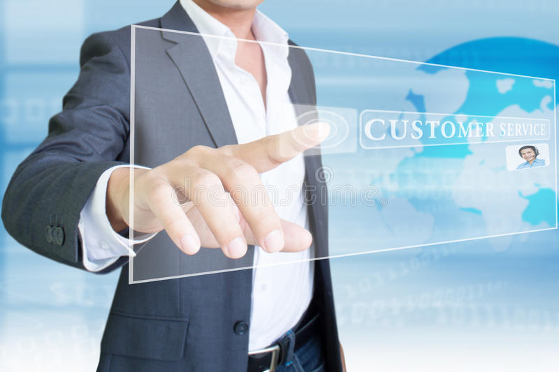 Customer Service. Concept Background And Ideas royalty free stock photos