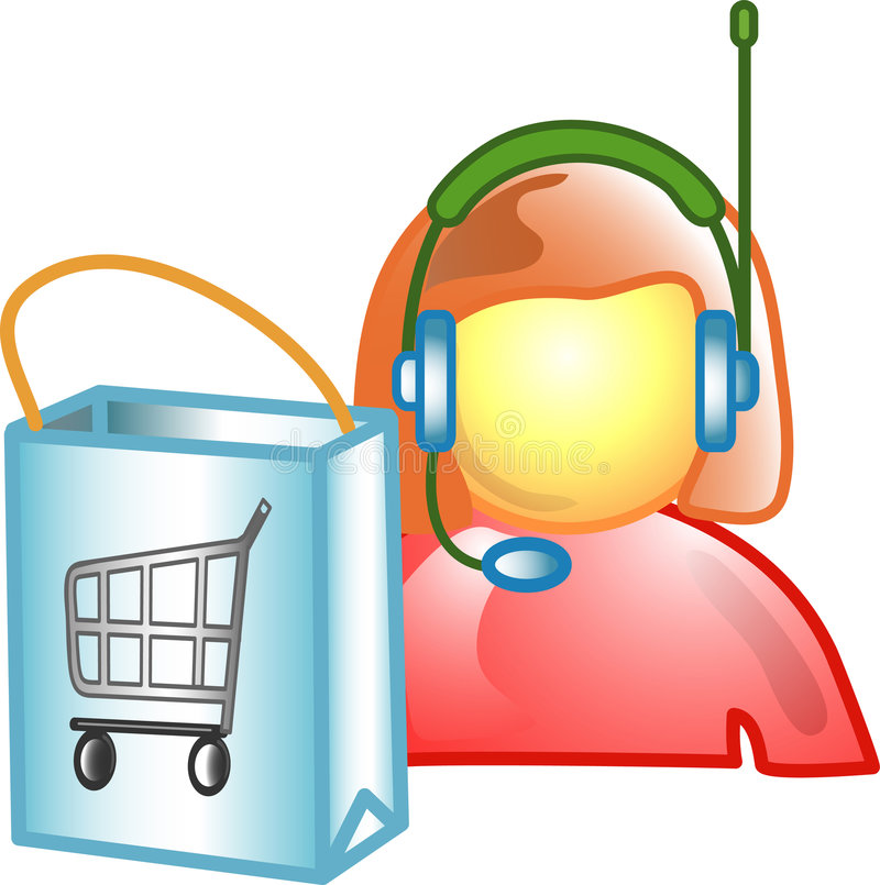 Customer Service Career Icon O Stock Photography