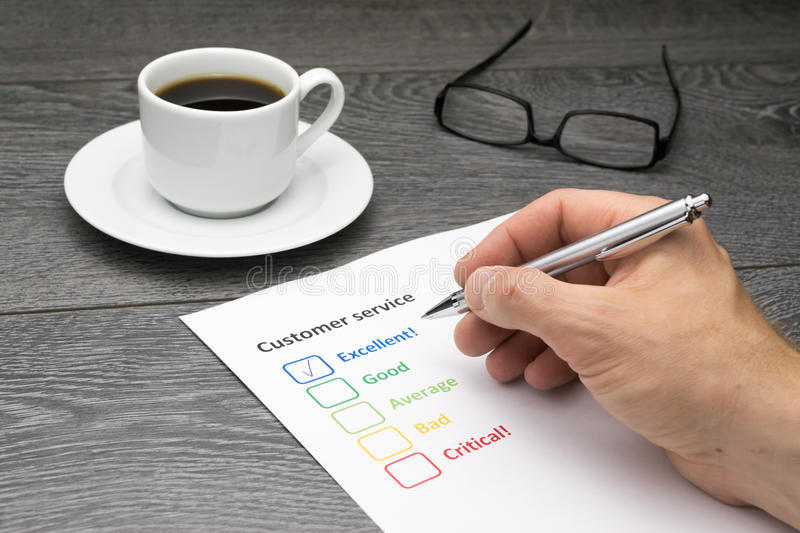 Customer service center offering excellent service royalty free stock photography