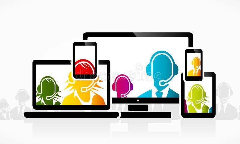 Customer service vector illustration