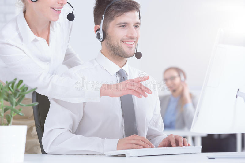 Customer Service Consultant Stock Image - Image of computer ...