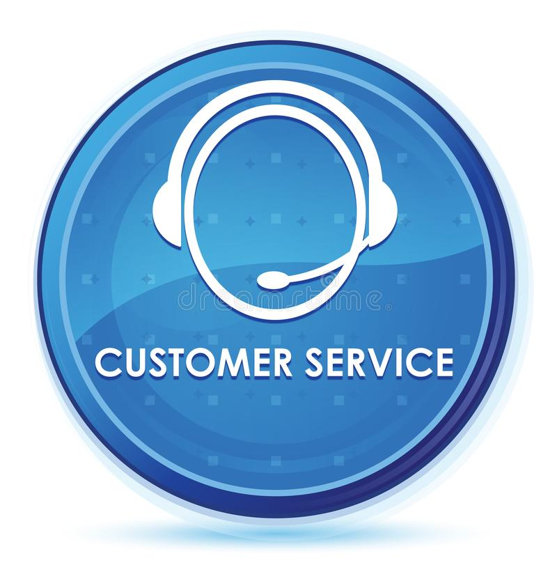 Customer service (customer care icon) midnight blue prime round button. Customer service (customer care icon) isolated on midnight blue prime round button stock illustration
