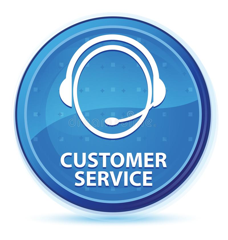 Customer service (customer care icon) midnight blue prime round button. Customer service (customer care icon) isolated on midnight blue prime round button royalty free illustration