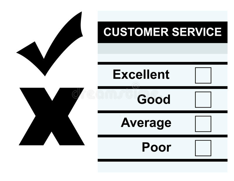 Customer Service Feedback Form Stock Illustration  Illustration Of