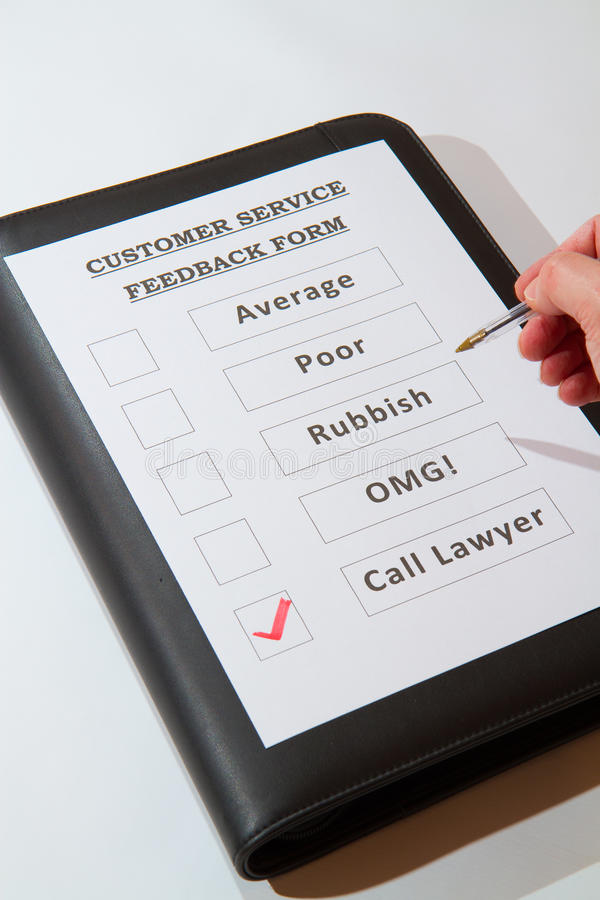 Customer Service Feedback Form Fun One Stock Image  Image Of