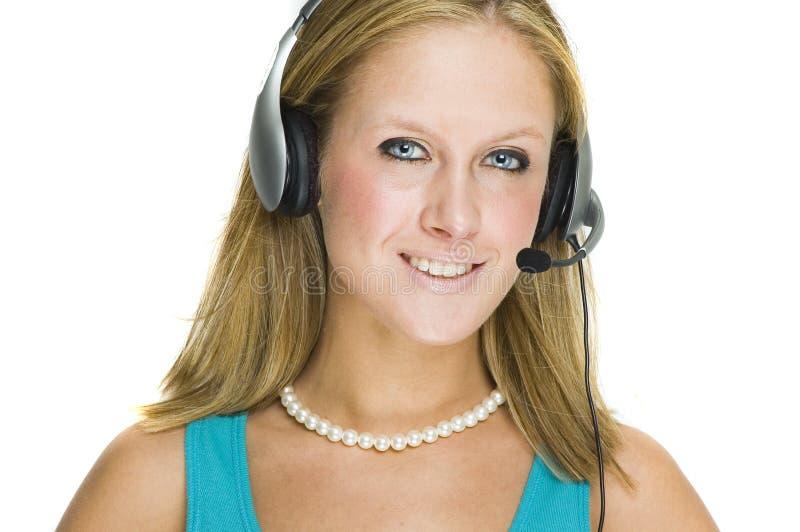 Customer service girl stock photography