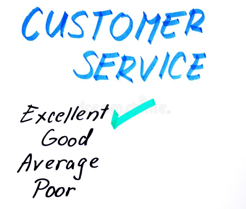 Download Customer Service Handwritten Rating Stock Image - Image: 24042929