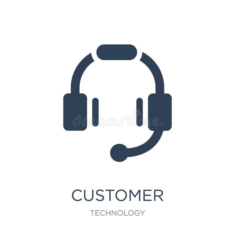 customer service headset icon in trendy design style. customer service headset icon isolated on white background. customer service royalty free illustration