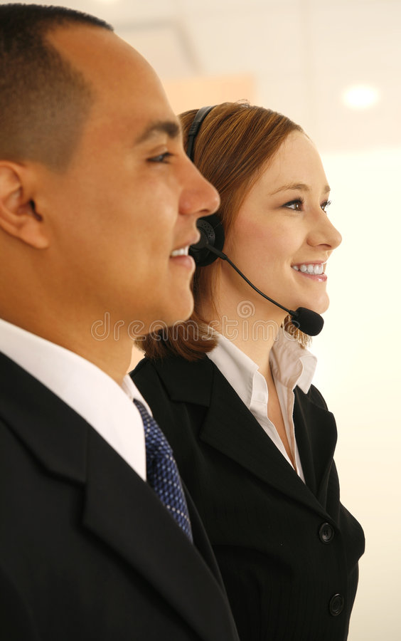 Customer Service And Her Coworker stock photo