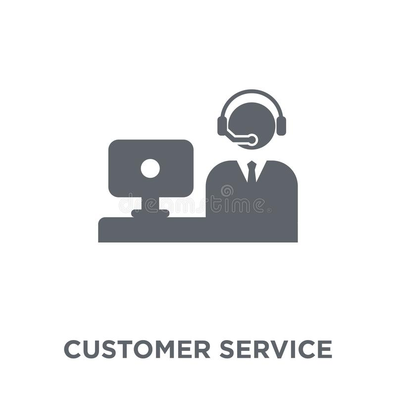 Customer service icon from Communication collection. stock illustration
