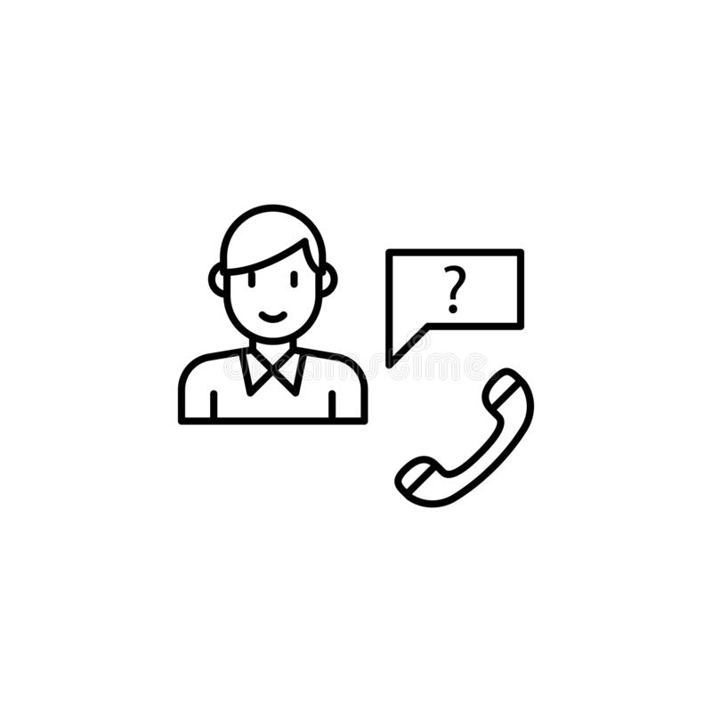 Customer service icon. Element of interview icon. On white background royalty free illustration