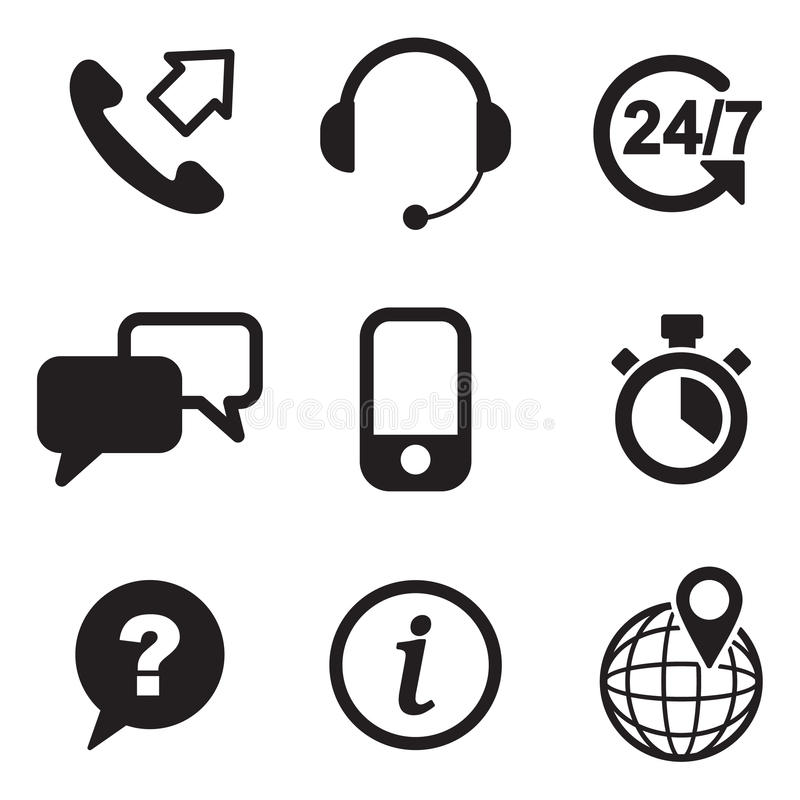 Download Customer Service Icons stock vector. Illustration of headphones - 41902571