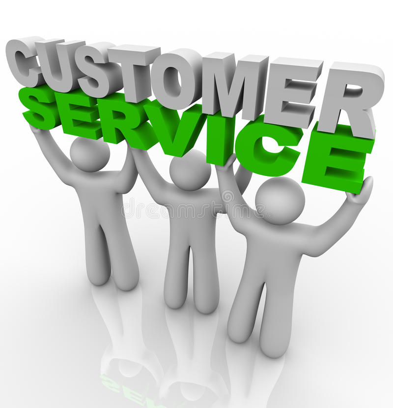 Download Customer Service - Lifting The Words Stock Illustration - Image: 15316276