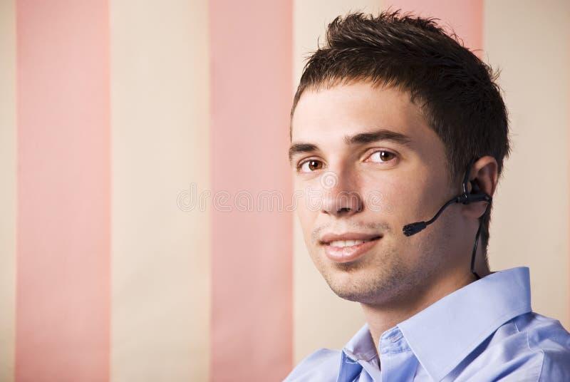Customer service man stock photos