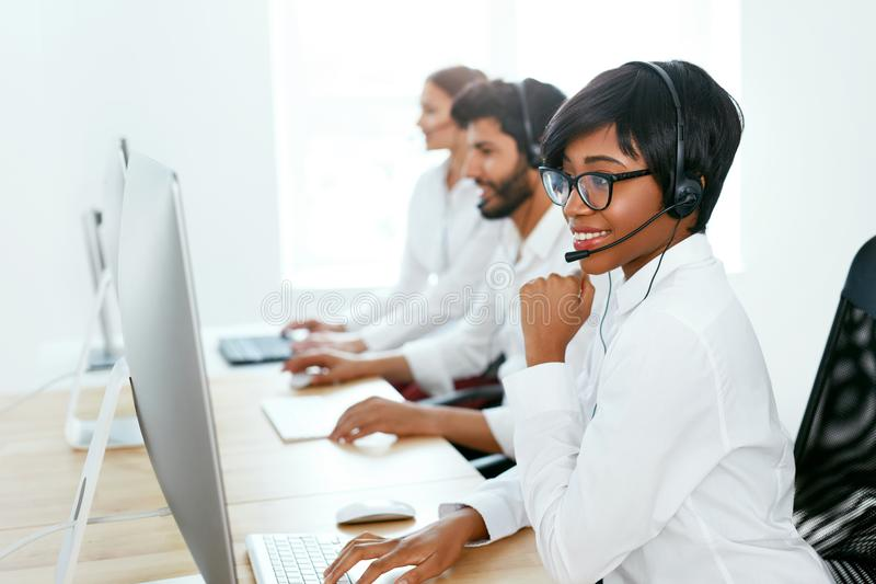 Customer Service Online In Call Center royalty free stock images