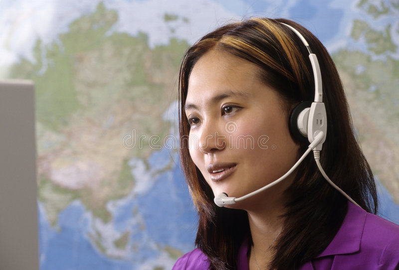 Customer service rep royalty free stock image