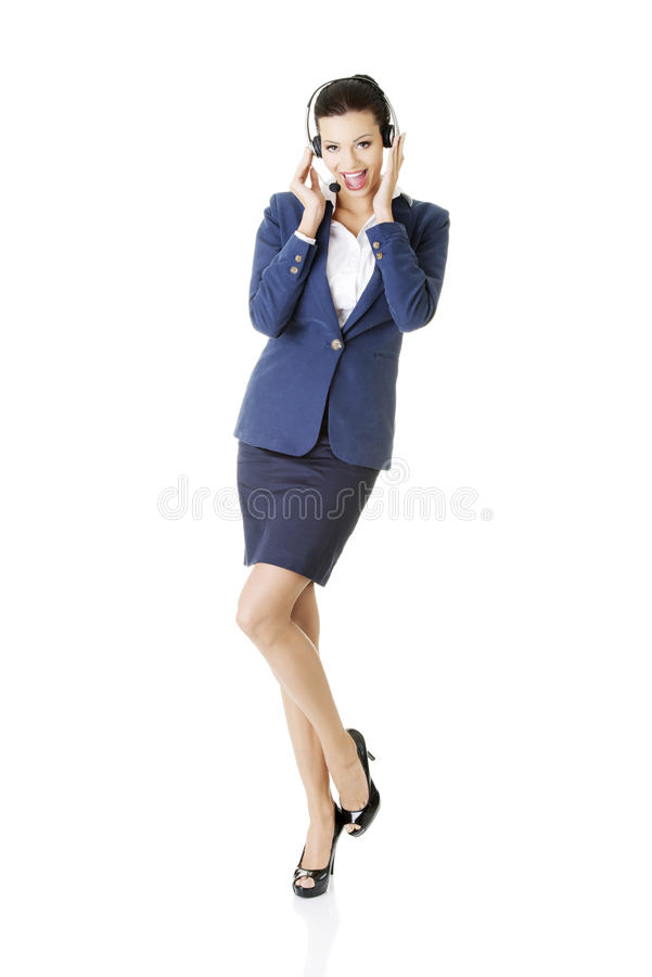 Download Customer Service Representative Holding Businesscard. Stock Photo - Image: 28866660