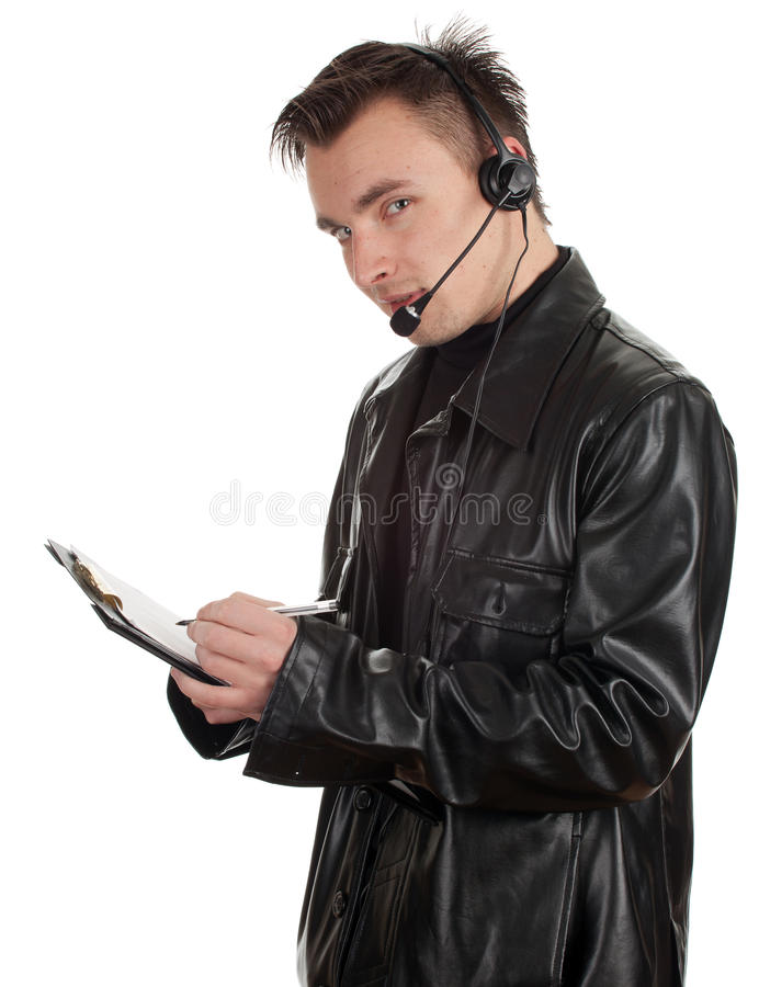 Download Customer Service Representative Man In Headset Royalty Free Stock Photos - Image: 19266748