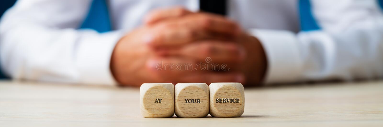 At your service sign royalty free stock photo
