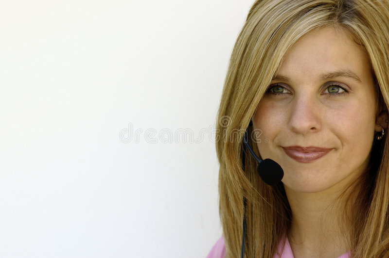 Customer Service Representative (Space for Text) royalty free stock photography