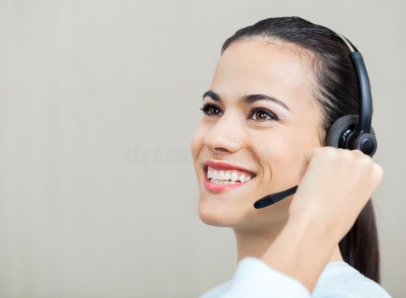 Customer Service Representative Talking On royalty free stock photography