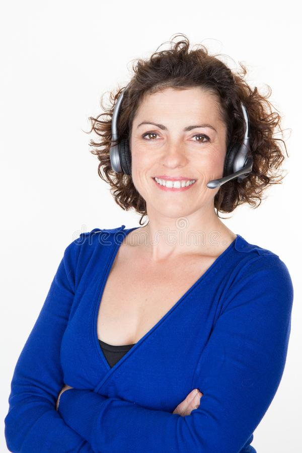 Customer Service Representative woman Personal assistant stock photo