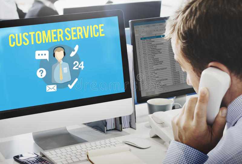 Customer Service Satisfaction Assistance Support Concept royalty free stock images