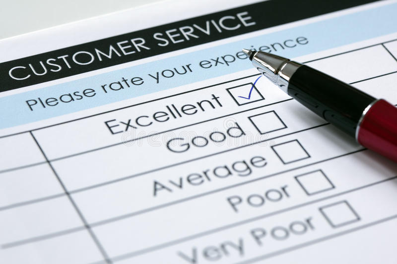 Customer service satisfaction survey royalty free stock images