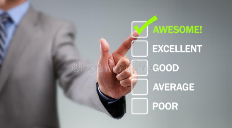Customer service satisfaction survey stock photo