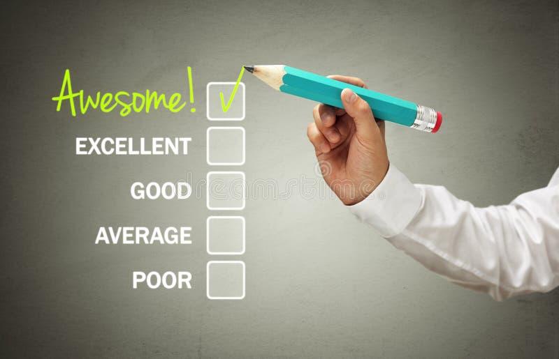 Customer service satisfaction survey stock image