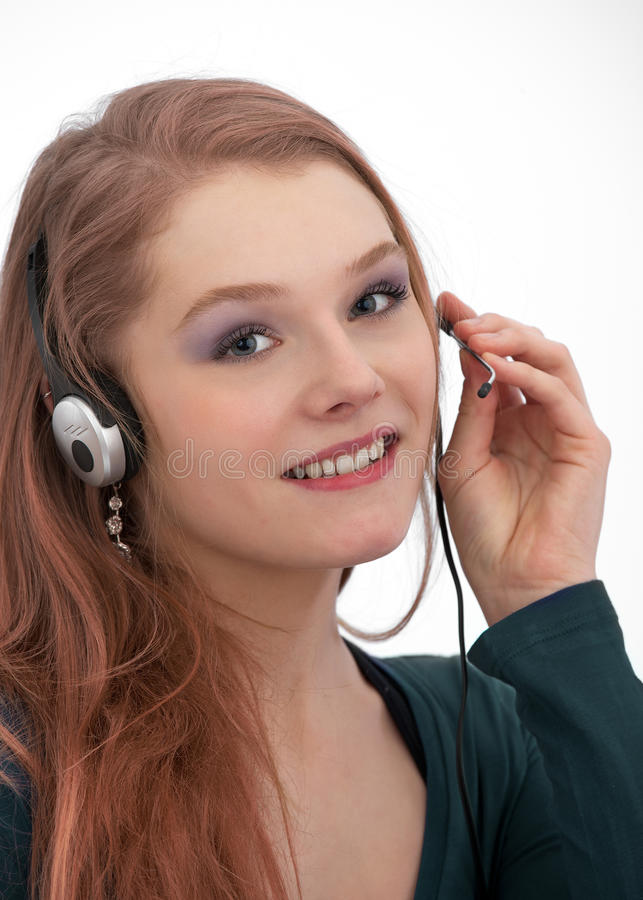 Customer service with smile stock photos