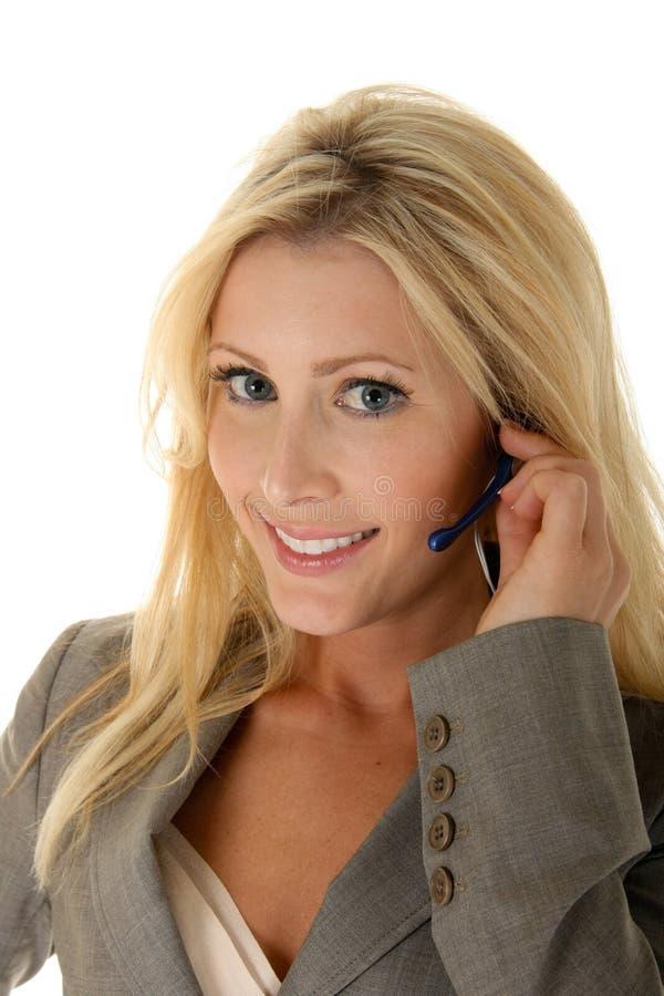 Customer Service Smile stock photo