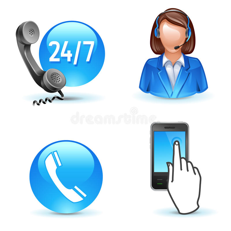 Download Customer service support stock vector. Illustration of contact - 19028634