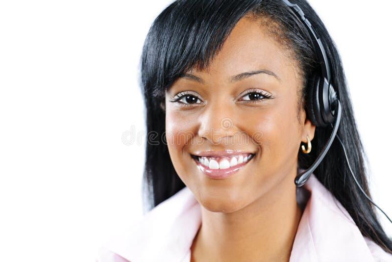 Customer service and support representative stock photo