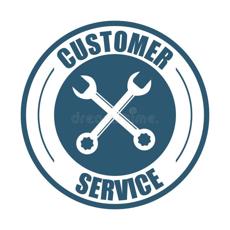 Customer service support tools badge royalty free illustration