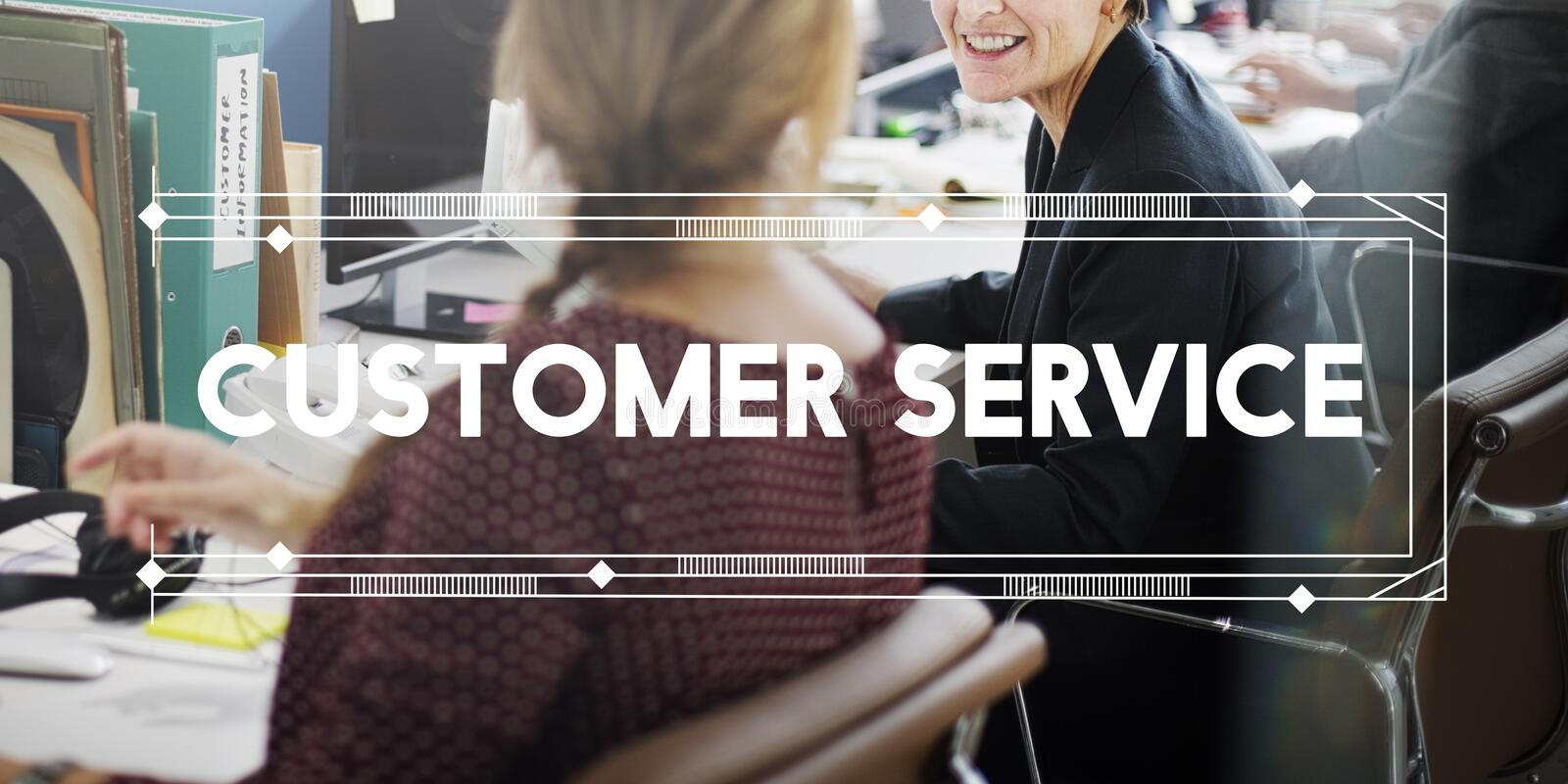 Customer Service Support Work Advice Concept stock image