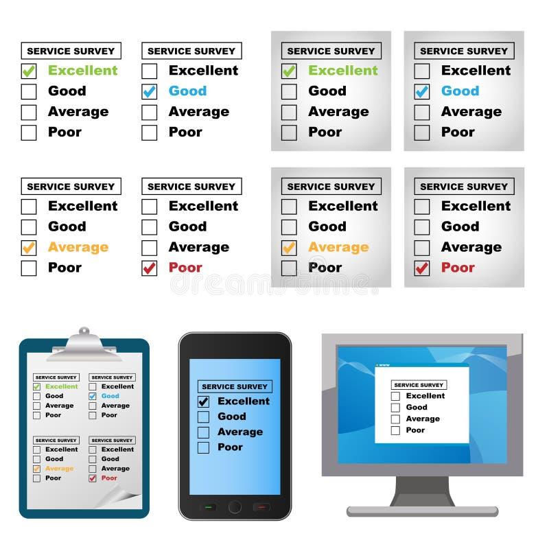Customer service survey vector illustration