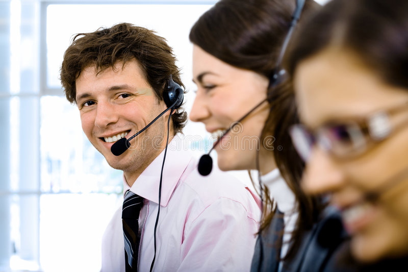 Customer Service Team Royalty Free Stock Images