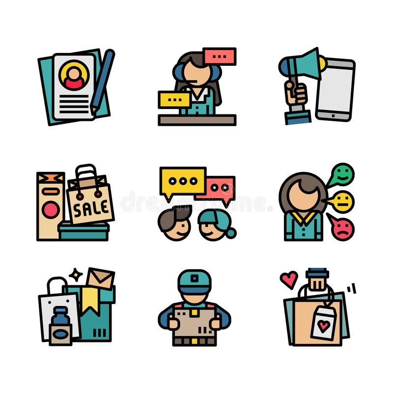 Customer service vector icon set - Vector. Customer service vector icon set royalty free illustration