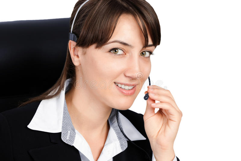 Customer service woman royalty free stock photo