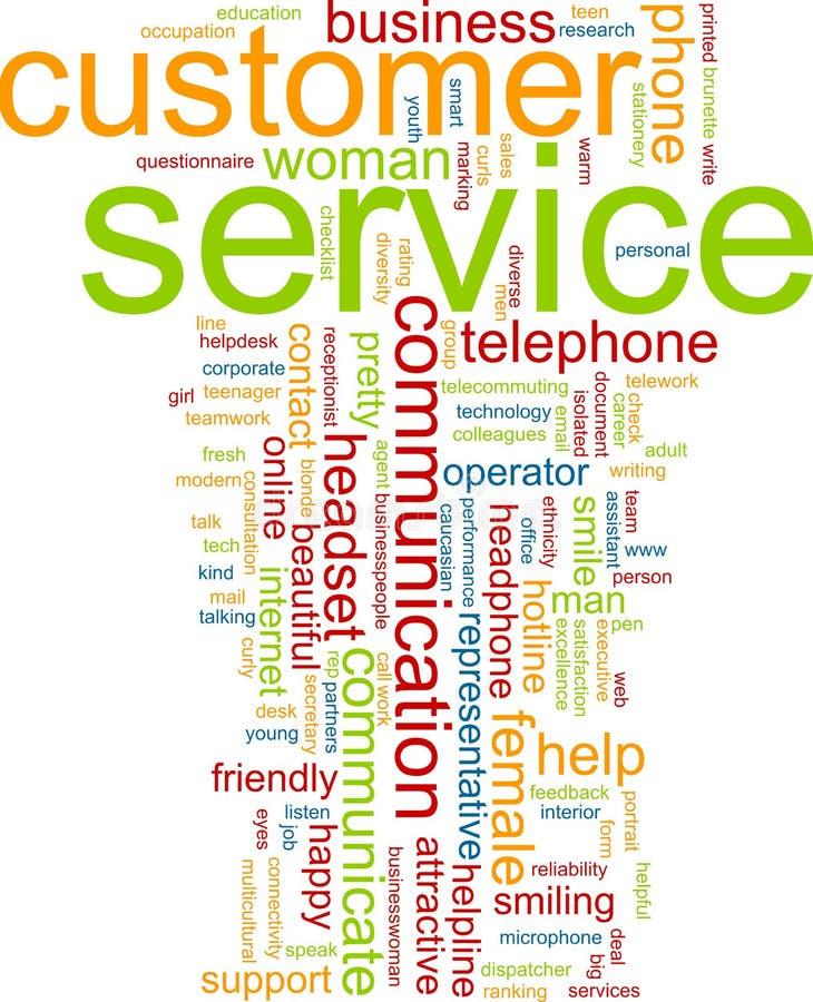 Customer service word cloud royalty free illustration