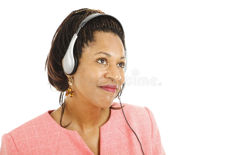 Customer Service Worker Listing royalty free stock photo