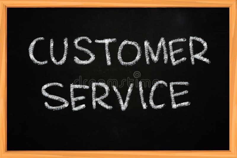 Customer Service Writing on Blackboard. Customer Service illustration of chalk writing on blackboard stock images