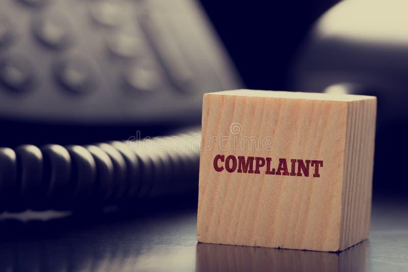 Customer services Complaint concept stock photo